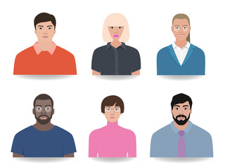 Icons of people, nationality vector