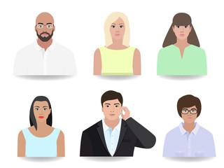 People stylize portrait vector