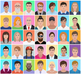 Set of people, vector illustration