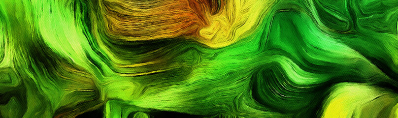 Fluid lines of color movement