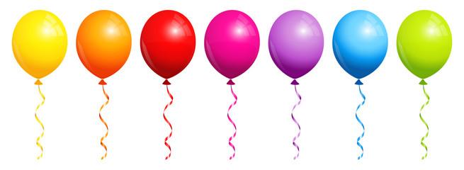 7 Rainbow Balloons Banner