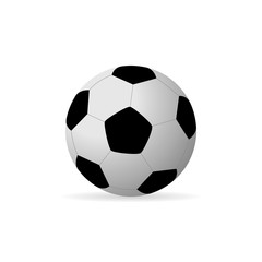 Vector image of a soccer ball.