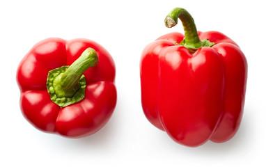 Sweet red pepper isolated on white Fototapete
