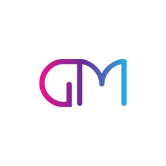 initial letter rounded logo modern, colorful gradient