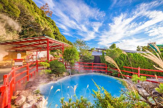 Oita, Japan hot springs.