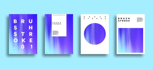 Artistic covers design. Brush stroke illustration. Trendy design.