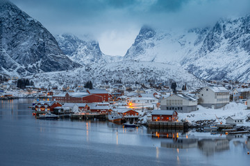 Lofoten Islands, Northern Norway. Winter landscape