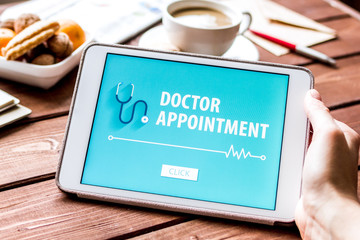 concept of appointment to doctor online