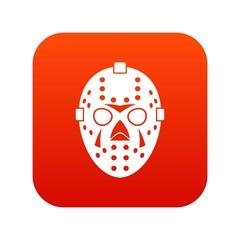 Goalkeeper mask icon digital red