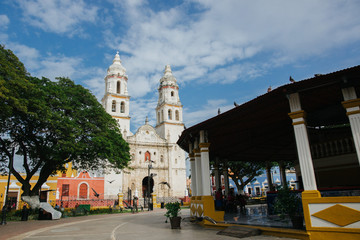 Cathedral in Campeche Mexico