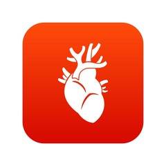 Heart icon digital red