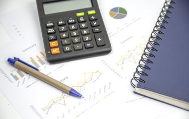 Finance background with market data and thai bath.
