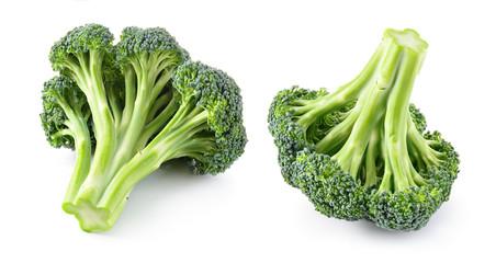 Broccoli isolated. Fresh broccoli. Full depth of field.