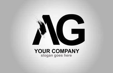 AG Splash Brush Letters Design Logo
