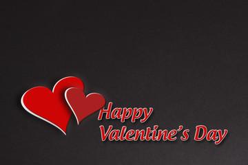 Romantic illustration card valentine day black background