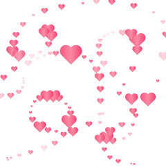 Abstract pink heart background. Vector illustration.