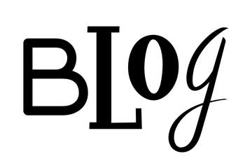 BLOG custom letters icon