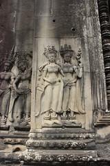 Wanddeko in Angkor Wat