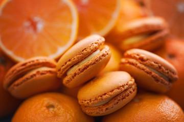 tangerine macaroons