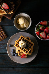 Home made Belgian waffles