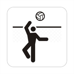 beach volley travel sign