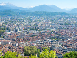 Cityscape view of Grenoble, France