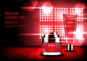 Skin care set on spotlight background vector illustration