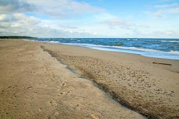 Strand der Ostsee in Ustka, Polen