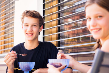 Teenagers Enjoying Ice Cream