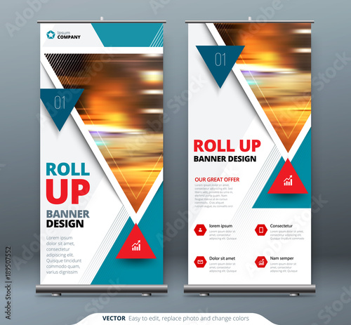 Business Roll Up Banner stand  Presentation concept