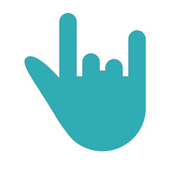 rock-n-roll gesture hand silhouette icon