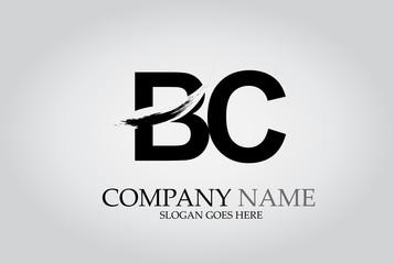 BC Splash Brush Letters Design Logo