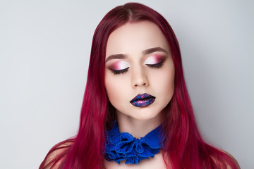 woman cosmos lips