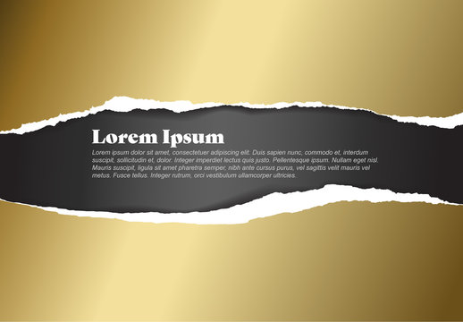 Golden Torn Paper Layout