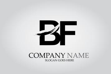 BF Splash Brush Letters Design Logo
