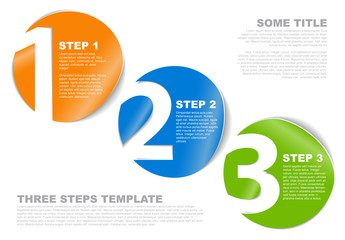 3 Steps Circle Infographic