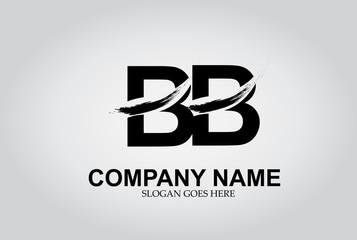 BB Splash Brush Letters Design Logo