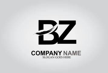 BZ Splash Brush Letters Design Logo