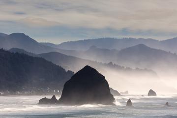 Haystack Rock on the Oregon Coast in Cannon Beach