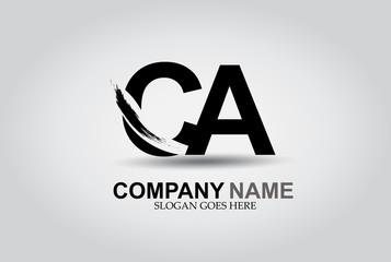 CA Splash Brush Letters Design Logo