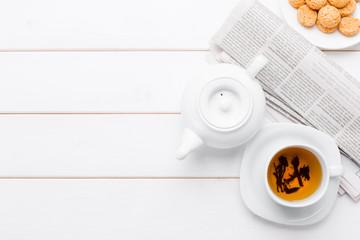 tea on the wooden table