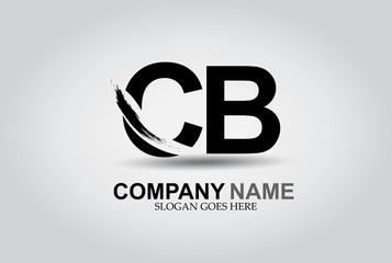 CB Splash Brush Letters Design Logo