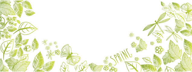Spring doodles background