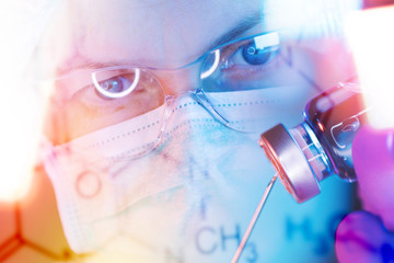 Pharmacology science researcher working in laboratory