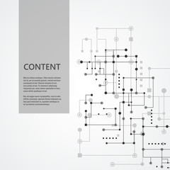 Network and connect lines and dots. Technology square communication background