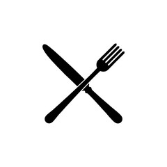 Fork and knife restaurant Icon.