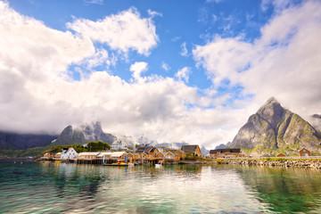 Fotomurales - Reine and Sakrisoy fishing villages, Lofoten Islands, Norway