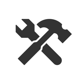 Wrench and hammer icon