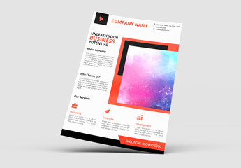 Flyer Layout with Red Accents 3