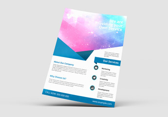 Business Brochure with Blue Accents Layout 3